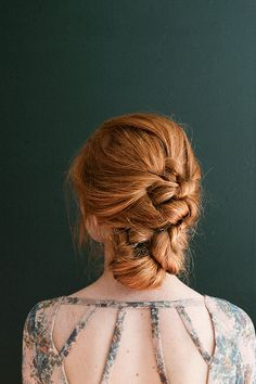 Simple knotted updo for Thanksgiving