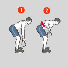 Exercise 6: Kettlebell Row http://www.menshealth.com/fitness/the-belly-fat-inferno/6-kettlebell-row
