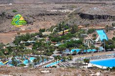 Aqualand Waterpark in Maspalomas Gran Canaria Waterpark Gran Canaria Water Parks, Canario, Canary Islands, Beautiful World, City Photo, Tourism, Places To Go, Child, Spaces