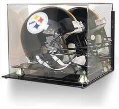 Acrylic Football Helmet Wall-Mount Display Case by BCW. $89.99. This beautiful acrylic display case is great for displaying your collectible or autographed memorabilia. It protects the item, as well as keeps it from being damaged by fingerprints, smudging, and dust.