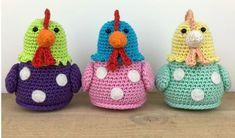 Stip & HAAK - Kipje Kitty - free crochet chicken pattern in English and Dutch. Crochet Diy, Crochet Vintage, Easter Crochet, Crochet Patterns Amigurumi, Amigurumi Doll, Crochet For Kids, Crochet Dolls, Double Knitting Patterns, Animal Knitting Patterns