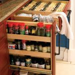 @dutchmadeinc spice rack inside cabinetry