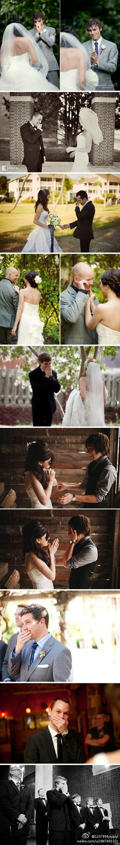 The reaction every girl dreams of and I have a good feeling this will be Evan on our big day too lol :)