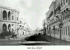 شارع عبد العزيز .. القاهرة 1871 Old Egypt, Cairo Egypt, Old Pictures, Old Photos, Life In Egypt, Modern Egypt, Rare Photos, Alexandria, Egyptian