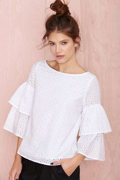 Nasty Gal Thread Lightly Top - Sale: Off Dress Body Type, Hippie Stil, Sassy Shirts, Modern Tops, Looks Chic, Lace Tops, Dress For You, Blouse Designs, Passion For Fashion