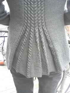 Cable Vent Jacket by Debbie Bliss