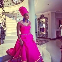 Queening in Sepedi inspired gown. Pedi Traditional Attire, Sepedi Traditional Dresses, African Traditional Wedding, Traditional Fashion, Traditional Weddings, African Dresses For Kids, African Print Dresses, African Fashion Dresses, African Prints