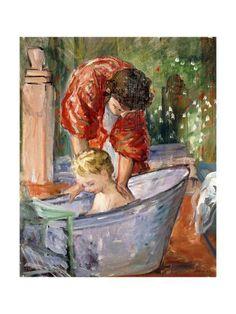 The Bath, by Henri Lebasque Oil Canvas, Photo D Art, Pierre Auguste Renoir, Henri Matisse, French Artists, Pablo Picasso, Figurative Art, Oeuvre D'art, Find Art