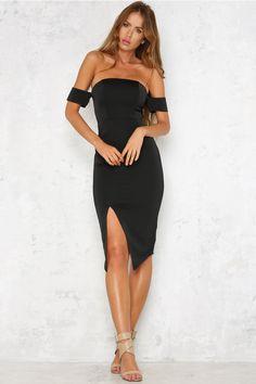 Newport Groove Dress Black