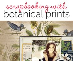 Botanical and zoological prints have an old-fashioned look that fits well with many scrapbook layout subjects--and that looks beautiful as you'll see in the scrapbooking ideas here. Family Memories, How To Make Paper, Botanical Prints, Old Pictures, My Passion, Scrapbooking Ideas, Paper Crafting, Scrapbooks, Prompts
