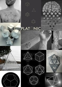 The platonic solids are found in 'sacred geometry' Sacred Geometry is a term used to describe patterns, shapes and forms that are part of the make up of all living things. The shapes regularly occu... Or dis? @jollywicked