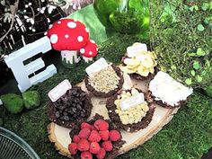 """""""Fairy Flakes""""(coconut), """"Chipmunk Chips"""" (banana), """"Gnome-Made Granola"""", """"Wrinkled Grapes"""" and """"Chocolate Dew Drops"""""""