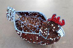 Beaded egg basket Golden brown hen African wire by akwaabaAfrica, $45.00 Sculpture Art, Sculptures, Egg Basket, Everyday Items, Beads And Wire, Wire Art, Golden Brown, Cuff Bracelets, Hobbies