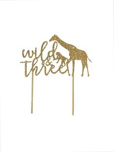 """""""This 'wild & three' safari topper perfect to dress up birthday cake. This listing is for 1 pc. This topper is made from mess free glitter. ** this cake topper made using thick, sturdy DOUBLE SIDED cardstock ** The width of topper approx 5.75\"""". ** Listing is for cake topper ONLY. **It's MADE TO ORDER, Ship in 2-3 days.** Standard shipping using USPS first class mail, normally take 4-5 business days for shipping. Need it sooner? Not to worry. Expedite 2-3 business day shipping is available f Jungle Safari, Safari Animals, Twin Birthday, Birthday Cake, Animal Cakes, Glitter Cardstock, Summer Boy, Silver Glitter, Cake Toppers"""