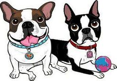 Image result for Boston Terrier Cartoon Pictures Halloween