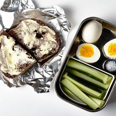 Hard-boiled eggs travel well and can be boiled in bulk at the beginning of the week. Make egg salad with the egg-stras!