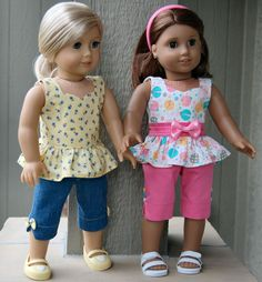 Sewing for American Girl Dolls-what a treasure trove of ideas, patterns, and links to patterns.