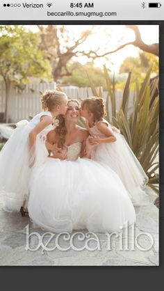 Bride + Flowergirls