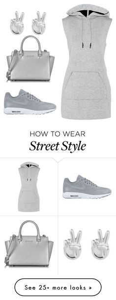 street style by carrington1999 on Polyvore featuring T By Alexander Wang, NIKE, Rock 'N Rose and Michael Kors So Cheap!! Check it out!! Only $21!