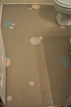How to paint linoleum floors--