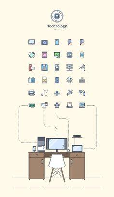 Technology - Landing Page Icons - Designmodo Market