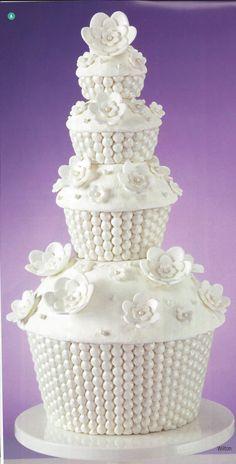 Giant wedding cupcake!