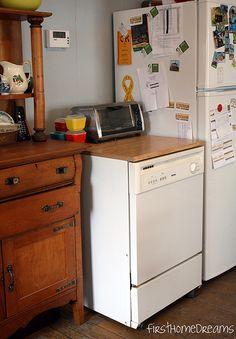 kenmore portable dishwasher farmhouse kitchen antique buffet