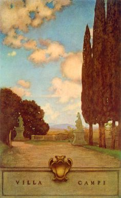 Italian Villas and Their Gardens, Edith Wharton, 907 printing, illustrated by Maxfield Parrish
