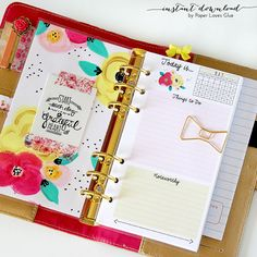 Personal Planner Size - Daily To Do Calendar 2015 & 2016, Monthly, Instant Download Printable, Print At Home