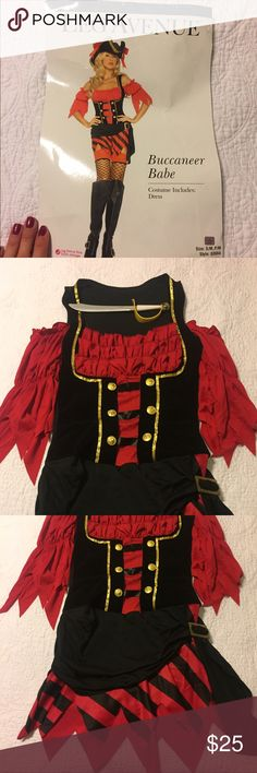 """Pirate Halloween Costume Leg Avenue brand Pirate """"Buccaneer Babe"""" costume for Halloween. Worn once! Comes with little pirate sword prop. Leg Avenue Other"""
