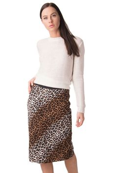 a85fa94b10 ELIZABETH AND JAMES Silk Straight Skirt Size 4 / S Leopard Pattern #fashion  #clothing #shoes #accessories #womensclothing #skirts (ebay link)