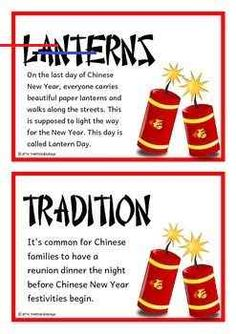 Chinese New Year Fact Cards - #chinesenewyearcrafts - A set of 14 printables that give fun and interesting facts about the Chinese New Year celebrated in China. Teachers also have the option to use this set as a vocabulary word wall as each fact card has a keyword heading related to the fact and topic. A super resource for discussing, displaying and activities! Buy this resource in a Bundle and SAVE OVER 20%: ... Chinese New Year Facts, Chinese New Year Desserts, Chinese New Year Crafts For Kids, Chinese New Year Traditions, Chinese New Year Zodiac, Chinese New Year Cookies, Chinese New Year Dragon, Chinese New Year Activities, Chinese New Year Design