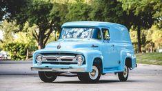 1956 Ford F100 Custom Panel truck.