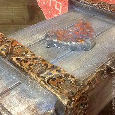Купить Сундук - сундучок-короб Птица свободная - подарок, подарок на любой случай, серый
