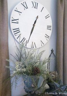 DIY::Knock Off Ballard Designs Wall Clock for Under Ten Dollars !