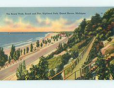 Board Walk Park Scene Grand Haven Michigan MI