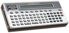 had this Radio Shack handheld computer in College 1982-1986