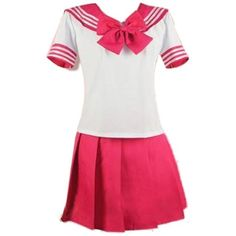Nuoqi Japanese School Girl's Sweet Sailor Lolita Dress School Uniforms (£10) ❤ liked on Polyvore featuring dresses