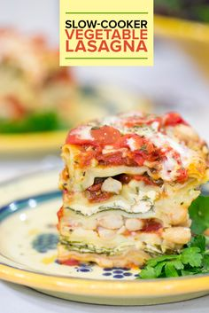 Slow-cooker vegetable lasagna is an easy dinner that you can make and enjoy all week long. It's also healthy.