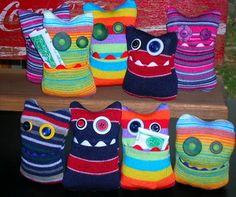 Did these adorable diy sock monsters eat all of our missing socks? These diy sock monsters are extra adorable as they have a little front pocket to store special treats.