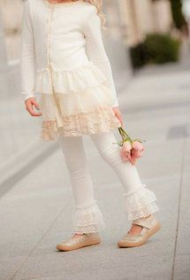 Persnickety Clothing - Ivory Tess Jacket Double Lace Leggings (come in 2 kind; cropped and not cropped)