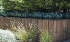 timber clad retaining wall
