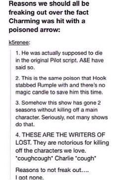 I am seriously freaking out. And this is not a threat or anything... but someone may die (*cough A or E *cough) if Charming does