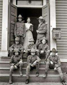 Vintage Boys Scouts of America Oath Uniform Movement Den Mother 1913 RARE Photo   eBay