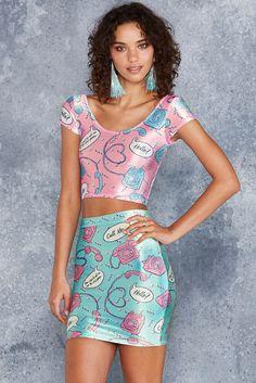 Call Me Pink Velvet Cap Sleeve Crop - 48HR ($60AUD) by BlackMilk Clothing