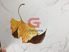 안녕하세요~ 이제 어느새 여름이 왔네요 날도 더워지고 학생들도 1학기 마지막 기말고사 시험을 준비하는 ... Fall Halloween, Halloween Decorations, Leaves, Crafts, Painting, Drawing, Manualidades, Painting Art, Paintings