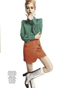 Charlotte Free for Glamour France March 2013    BOOTS!