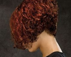 short curly hair back view - Google Search
