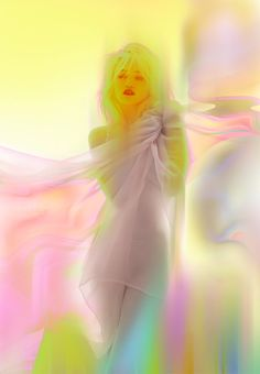 sky ferreira in painterly neon
