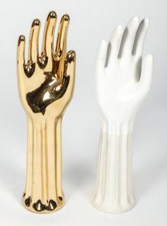 2 Vintage Trenton Pottery Ceramic Glove Molds